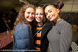 Ladies of the Decker family at the Mooneyes afterparty at their Area-1 store for overseas guests after the Yokohama show. Monday, December 3, 2018. Photography ©2018 Michael Lichter.