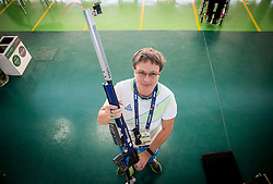 Coach Polona Sladic of Slovenia during Qualification of R7 - Men's 50m Rifle 3 Positions SH1 on day 5 during the Rio 2016 Summer Paralympics Games on September 12, 2016 in Olympic Shooting Centre, Rio de Janeiro, Brazil. Photo by Vid Ponikvar / Sportida