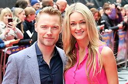 © Licensed to London News Pictures. 11/05/2014, UK. Ronan Keating; Storm Uechtritz, Postman Pat: The Movie - World Film Premiere, Odeon West End Leicester Square, London UK, 11 May 2014,. Photo credit : Richard Goldschmidt/Piqtured/LNP