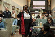 Singer Maureen Brathwaite from the Birmingham Opera Company performs Hi Sam inside The Mailbox to an audience, during the Birmingham Weekender Arts And Culture Festival on 23rd September 2017 in Birmingham, United Kingdom.