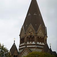 Europe, Germany, Hamburg. Gnadenkirche church.