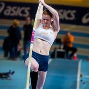 NLD/Apeldoorn/20180217 - NK Indoor Athletiek 2018, poolstokhoogspringen, Sterre de Booy