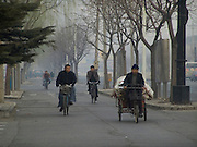 workers on there way to work Beijing China