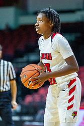 NORMAL, IL - November 20:  Juliunn Redmond during a college women's basketball game between the ISU Redbirds and the Huskies of Northern Illinois November 20 2019 at Redbird Arena in Normal, IL. (Photo by Alan Look)