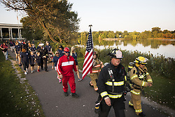 September 11, 2017 - St. Paul, MN, USA - The 9/11 Memorial Walk hosted by the St. Paul Fire Foundation at Lake Como Monday, Sept. 11, 2017 in St. Paul, Minn. (Credit Image: © Leila Navidi/TNS via ZUMA Wire)