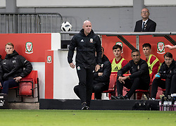 NEWPORT, WALES - Tuesday, October 16, 2018: Wales' manager Rob Page during the UEFA Under-21 Championship Italy 2019 Qualifying Group B match between Wales and Switzerland at Rodney Parade. (Pic by Laura Malkin/Propaganda)