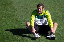 Goalkeeper of Slovenia Samir Handanovic during a training session at  Hyde Park High School Stadium on June 14, 2010 in Johannesburg, South Africa.  (Photo by Vid Ponikvar / Sportida)