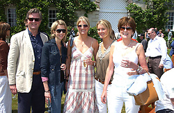 "Left to right, the EARL OF BALFOUR, LADY CANDIDA BALFOUR, LADY MARIA BALFOUR, LADY KINVARA BALFOUR and the COUNTESS OF BALFOUR at a luncheon hosted by Cartier at the 2005 Goodwood Festival of Speed on 26th June 2005.  Cartier sponsored the ""Style Et Luxe' for vintage cars on the final day of this annual event at Goodwood House, West Sussex. <br />