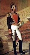 Simón Bolívar (1783 – 1830) Venezuelan political leader. Together with José de San Martín, he played a key role in Latin America's struggle for independence from Spain.