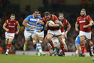 Gethin Jenkins of Wales © surges his way forward past the Argentina defence. Under Armour 2016 series international rugby, Wales v Argentina at the Principality Stadium in Cardiff , South Wales on Saturday 12th November 2016. pic by Andrew Orchard, Andrew Orchard sports photography