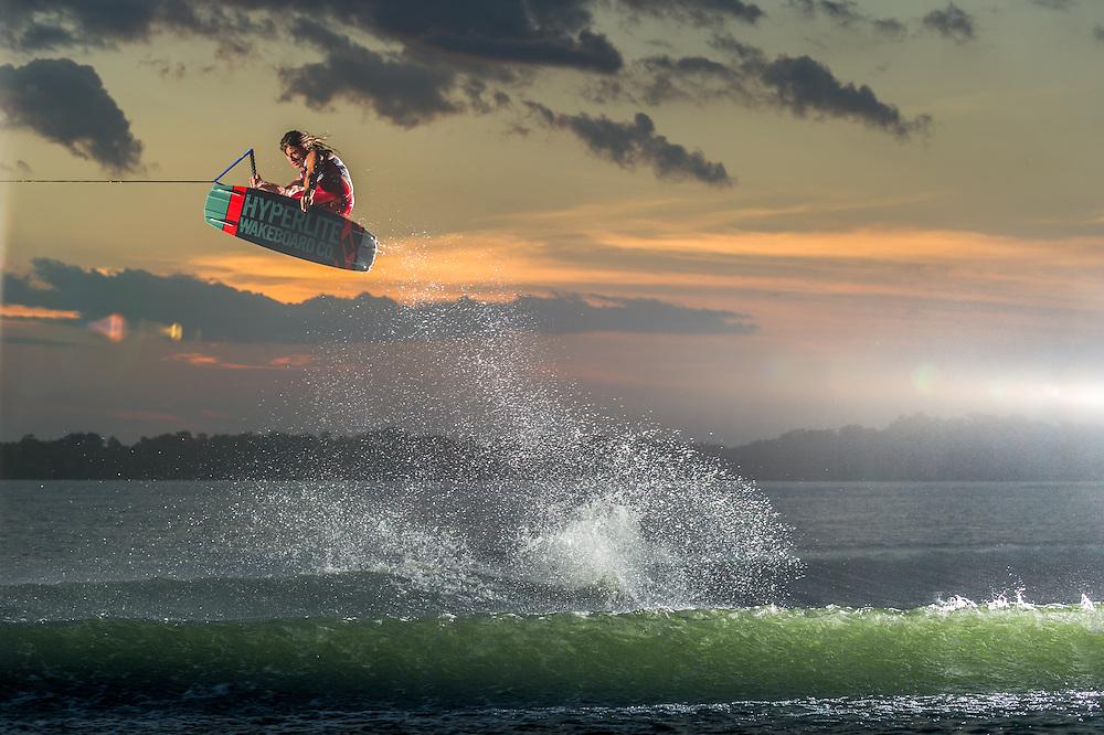 Jimmy Lariche shot fro Transworld Wakeboarding Magazine in Orlando, Florida.