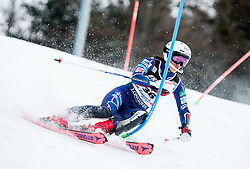 """Asa Ando (JPN) competes during 1st Run of FIS Alpine Ski World Cup 2017/18 Ladies' Slalom race named """"Snow Queen Trophy 2018"""", on January 3, 2018 in Course Crveni Spust at Sljeme hill, Zagreb, Croatia. Photo by Vid Ponikvar / Sportida"""
