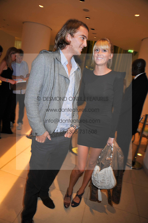CONRAD GAMBLE and LADY EMILY COMPTON at the St.Martins Lane Hotel 10th year bash held on 9th September 2009.