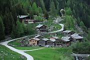 Mountain pasture community Außergschlöß. High Tauern National Park, East Tyrol, Austria. | Almsiedlung Außergschlöß. Nationalpark Hohe Tauern, Osttirol, Österreich.