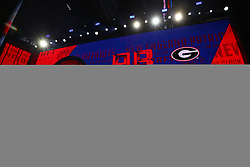April 26, 2018 - Arlington, TX, U.S. - ARLINGTON, TX - APRIL 26:  Sony Michel on the video board after being chosen by the New England Patriots with the 31st pick during the first round at the 2018 NFL Draft at AT&T Statium on April 26, 2018 at AT&T Stadium in Arlington Texas.  (Photo by Rich Graessle/Icon Sportswire) (Credit Image: © Rich Graessle/Icon SMI via ZUMA Press)