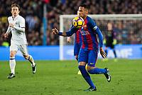FC Barcelona's Neymar Santos Jr during spanish La Liga match between Futbol Club Barcelona and Real Madrid  at Camp Nou Stadium in Barcelona , Spain. December 03, 2016. (ALTERPHOTOS/Rodrigo Jimenez)