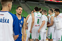 Zan Kosic of KK Rogaska and KK Petrol Olimpija during 2nd leg basketball match between KK Petrol Olimpija and KK Rogaska in quarter final of  Pokal SPAR 2018/19, on January 14, 2019 in Arena Stozice, Ljubljana, Slovenia. Photo by Matic Ritonja / Sportida