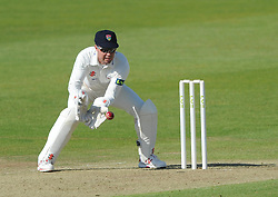 Geraint Jones of Gloucestershire fields the ball - Photo mandatory by-line: Dougie Allward/JMP - Mobile: 07966 386802 - 07/06/2015 - SPORT - Football - Bristol - County Ground - Gloucestershire Cricket v Lancashire Cricket - LV= County Championship
