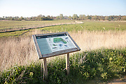 Information board for Snape Marshes at Snape, Suffolk, England