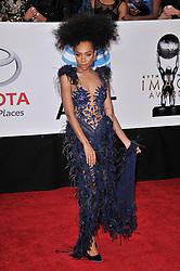 Niatia 'Lil' Mama' Kirkland at The 49th NAACP Image Awards held at the Pasadena Civic Auditorium on January 15, 2018 in Pasadena, CA, USA (Photo by Sthanlee B. Mirador/Sipa USA)