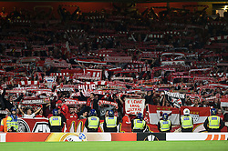 Cologne fans in the crowd show their support - Mandatory by-line: Patrick Khachfe/JMP - 14/09/2017 - FOOTBALL - Emirates Stadium - London, England - Arsenal v Cologne - UEFA Europa League Group stage