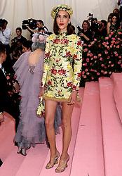 Alexa Chung attending the Metropolitan Museum of Art Costume Institute Benefit Gala 2019 in New York, USA.
