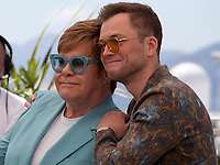 Sir Elton John and Taron Egerton at Rocketman film photo call at the 72nd Cannes Film Festival, Thursday 16th May 2019, Cannes, France. Photo credit: Doreen Kennedy