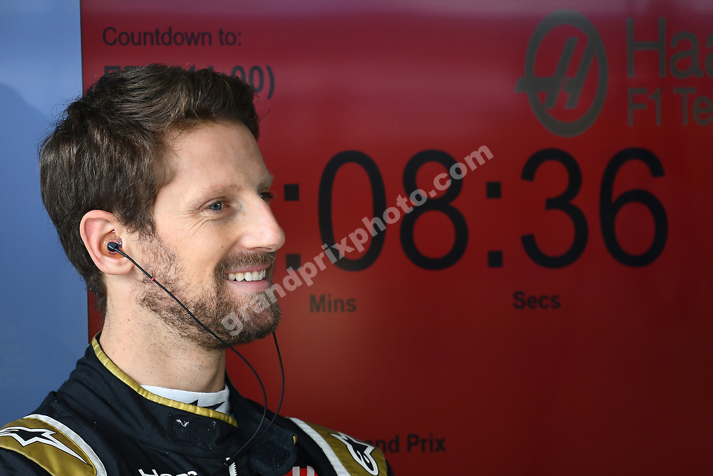 Romain Grosjean (Haas-Ferrari) in the pits during practice for the 2019 Brazilian Grand Prix in Interlagos, Sao Paulo. Photo: Grand Prix Photo