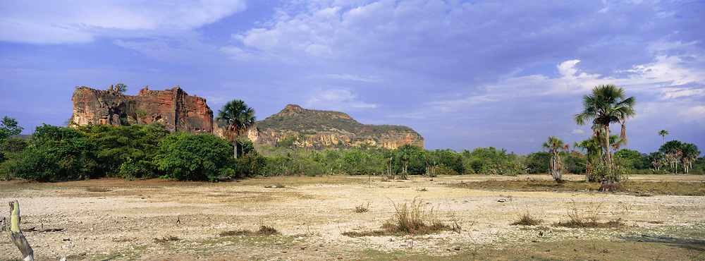 Red Sandstone Cliffs in Cerrado Habitat<br />