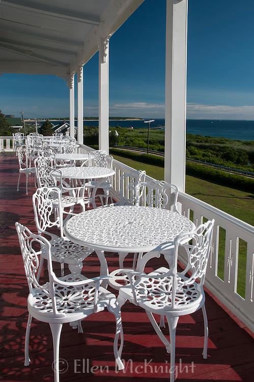 Patio at The Spring House on Block Island, Rhode Island