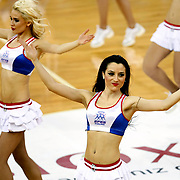 Anadolu Efes's show girls during their Euroleague Top 16 game13 basketball match Anadolu Efes between Unicaja Malaga at the Abdi Ipekci Arena in Istanbul at Turkey on Thursday, March, 28, 2013. Photo by Aykut AKICI/TURKPIX