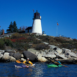 Southport Island, ME.... Kayaking next to Burnt Island in Midcoast Maine.  Boothbay Harbor.  Burnt Island Lighthouse.