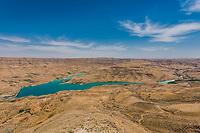 Wadi El Mujib Dam and Lake in Jordan middle east
