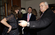 Countess Lucia Cardini, Rocco Forte and Count Eaddo Cardini. Olga Polizzi and Rocco Forte host a party to celebrate the re-opening of Brown's Hotel  after a  £19 million renovation. Albermarle St. London. 12 December 2005. ONE TIME USE ONLY - DO NOT ARCHIVE  © Copyright Photograph by Dafydd Jones 66 Stockwell Park Rd. London SW9 0DA Tel 020 7733 0108 www.dafjones.com