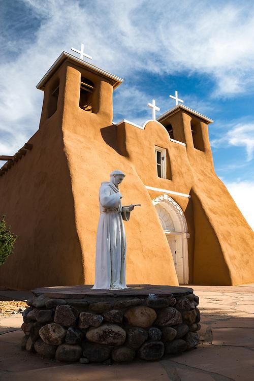 San Francisco de Asis Mission Church, 18th century adobe National Historic Landmark, Ranchos de Taos, New Mexico