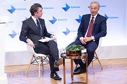 © Licensed to London News Pictures. 29/01/2019. London, UK. Ed Williams, UK & Ireland CEO and Vice Chairman of Eldeman and former British Prime Minster Tony Blair makes a speech at the launch of Edelman Trust Barometer 2019. Photo credit: Ray Tang/LNP