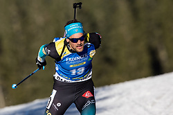 Simon Desthieux (FRA) in action during the Men 10km Sprint at day 6 of IBU Biathlon World Cup 2018/19 Pokljuka, on December 7, 2018 in Rudno polje, Pokljuka, Pokljuka, Slovenia. Photo by Vid Ponikvar / Sportida
