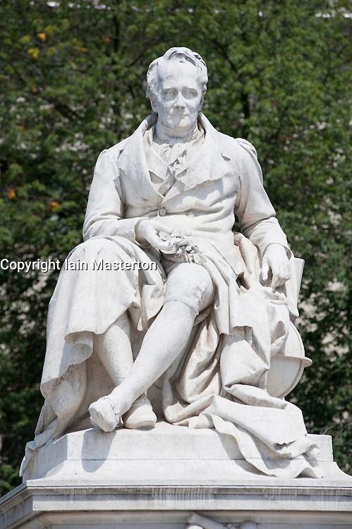 Statue of Alexander von Humboldt outside Humboldt University in Berlin Germany