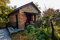 A bungalow at Tiger Mountain Pokhara Lodge, above Pokhara, Nepal.