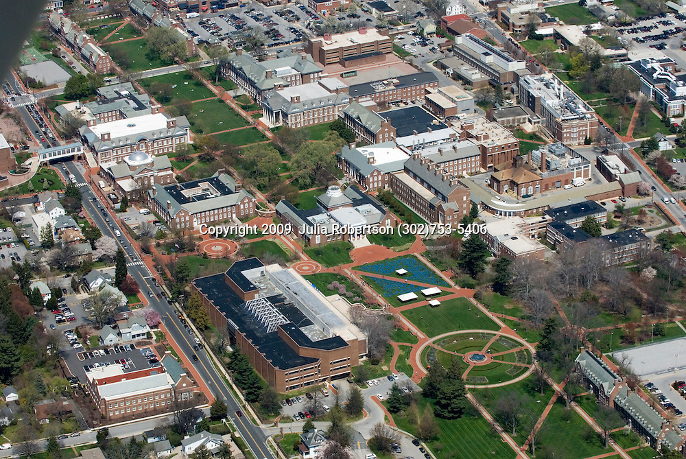 Aerial views of the University of Delaware  Decision Day,  Newark, Delaware