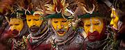 Huli men, Goroka festival, 140 ethnic tribes come together for three day Sing sing, Goroka, Eastern Highlands, Papua New Guinea