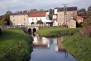 River Deben and Rackhams water mill, Wickham Market, Suffolk, England