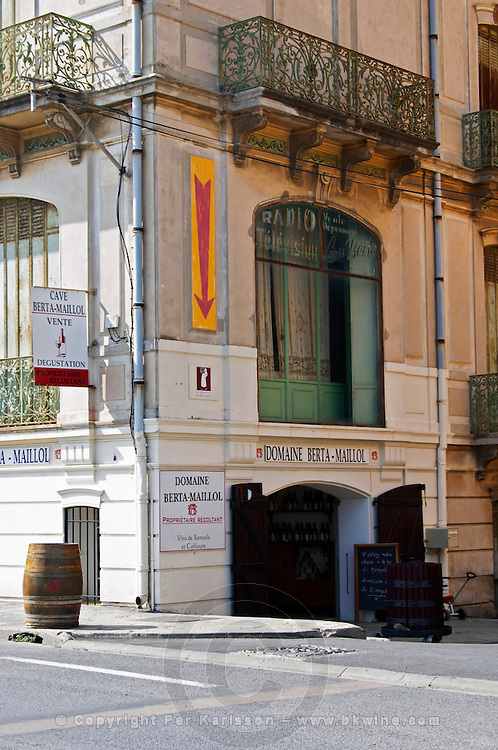 Wine shop. Domaine Berta Maillol. Banyuls sur Mer, Roussillon, France
