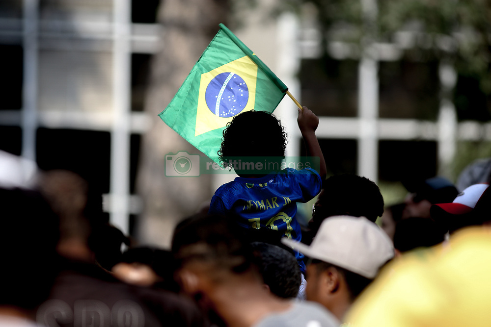 July 6, 2018 - Sao Paulo, Brazil - Brazilian fans cry after watching the defeat of the Brazil team to Belgium in a soccer match at the FIFA World Cup 2018 in Russia (Credit Image: © Dario Oliveira via ZUMA Wire)
