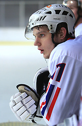 Nejc Berlisk at friendly ice-hockey game between Slovenian National Team U20 and HKMK Bled, before World Championship Division 1, Group A in Herisau, Switzerland, on December 11, 2008, in Bled, Slovenia. (Photo by Vid Ponikvar / Sportida)