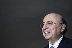 August 3, 2017 - Sao Paulo, Sao Paulo, Brazil - Aug, 2017 - Sao Paulo, Sao Paulo, Brazil - The Brazilian Finance Minister, HENRIQUE MEIRELLES, participated on Thursday (3), the 4th Annual Conference on Macroeconomics and Strategy in Brazil, organized by Goldman Sachs, in the city of Sao Paulo. At a press conference, MEIRELLES said it expects approval this year of tax reform for the country. (Credit Image: © Marcelo Chello/CJPress via ZUMA Wire)