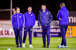 Sam Matthews of Bristol Rovers, Michael Kelly of Bristol Rovers, Joe Martin of Bristol Rovers and Adam Smith of Bristol Rovers arrives at St James Park prior to kick off - Mandatory by-line: Ryan Hiscott/JMP - 13/11/2018 - FOOTBALL - St James Park - Exeter, England - Exeter City v Bristol Rovers - Checkatrade Trophy