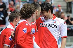 16-05-2010 VOETBAL: FC UTRECHT - RODA JC: UTRECHT<br /> FC Utrecht verslaat Roda in de finale van de Play-offs met 4-1 en gaat Europa in / Ricky van Wolfswinkel, Jan Wuytens, Dries Mertens en Barry Maguire<br /> ©2010-WWW.FOTOHOOGENDOORN.NL