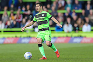 Forest Green Rovers Lloyd James(4) on the ball during the EFL Sky Bet League 2 match between Forest Green Rovers and Exeter City at the New Lawn, Forest Green, United Kingdom on 4 May 2019.