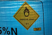 Nitram nitrogen fertiliser in large blue bags